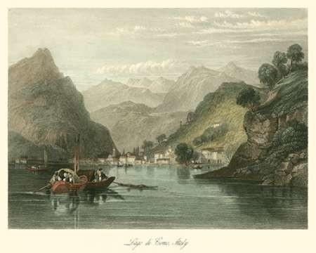Lago di Como, Italy Digital Print by Leitch, W.L.,Impressionism