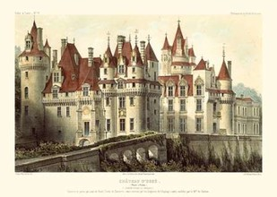 French Chateaux VII Digital Print by Petit, Victor,Realism