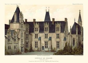French Chateaux VIII Digital Print by Petit, Victor,Realism