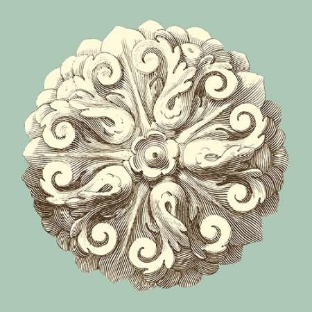 Celadon and Mocha Rosette II Digital Print by Vision Studio,Decorative
