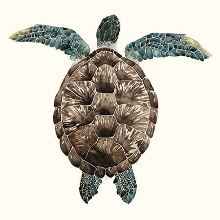 Mosaic Turtle I Digital Print by Popp, Grace,Decorative