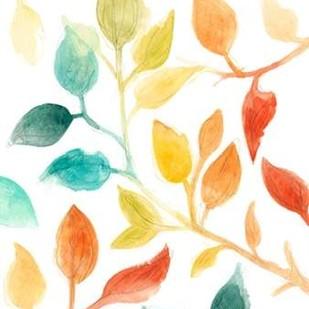 Spectrum Leaves I Digital Print by Vess, June Erica,Decorative