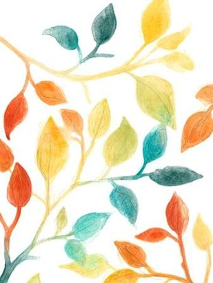 Spectrum Leaves II Digital Print by Vess, June Erica,Decorative