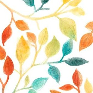 Spectrum Leaves II Digital Print by Vess, June Erica,Decorative
