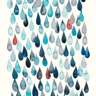 Watercolor Drops I Digital Print by Popp, Grace,Decorative