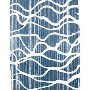 Exverse Indigo Digital Print by Goldberger, Jennifer,Abstract