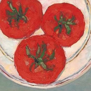 Plate with Tomato Digital Print by Dixon, Samuel,Impressionism