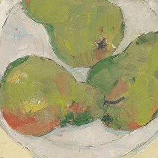 Plate with Pear Digital Print by Dixon, Samuel,Impressionism