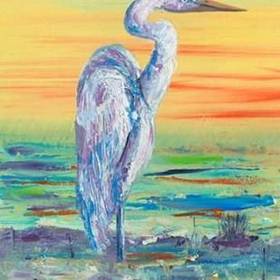 Egret Sunset I Digital Print by Brewington, Olivia,Impressionism