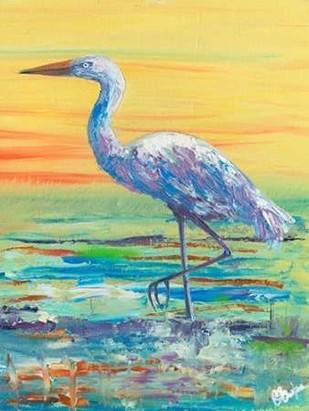 Egret Sunset II Digital Print by Brewington, Olivia,Impressionism