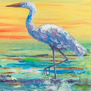 Egret Sunset II Digital Print by Brewington, Olivia,Impressionism