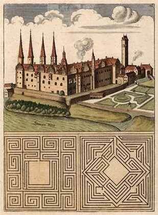 Castle & Maze I Digital Print by Unknown,Realism