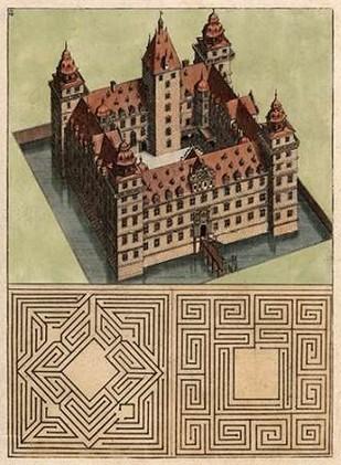 Castle & Maze II Digital Print by Unknown,Realism