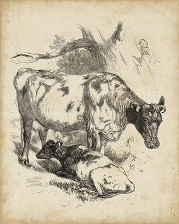 Pastoral Sketch I Digital Print by Unknown,Illustration