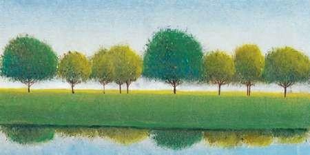 Trees in a Line II Digital Print by Otoole, Tim,Impressionism