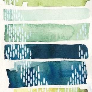 Aqua Streak II Digital Print by Popp, Grace,Abstract