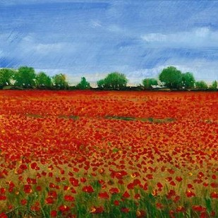 Field of Poppies I Digital Print by Otoole, Tim,Impressionism