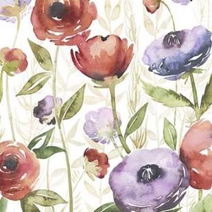 Jeweltoned Blossoms I Digital Print by Popp, Grace,Impressionism