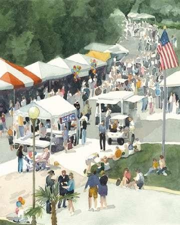 Street Party II Digital Print by Fagan, Edie,Realism