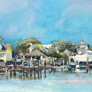 Harbor Island Dock II Digital Print by Fagan, Edie,Impressionism