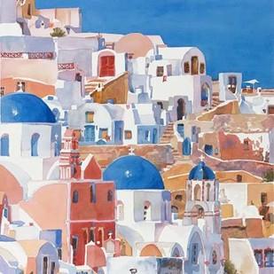 Santorini Watercolor II Digital Print by Fagan, Edie,Impressionism