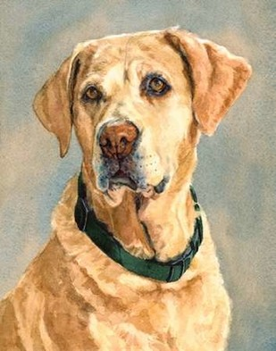 Lucy Yellow Lab Digital Print by Fagan, Edie,Impressionism