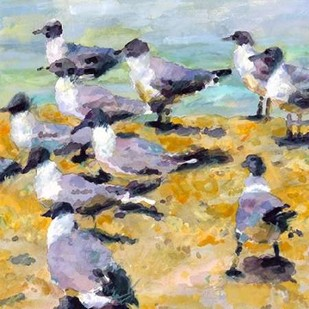Sea Birds Watercolor I Digital Print by Fagan, Edie,Impressionism