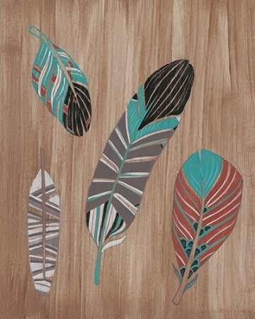 Driftwood Feathers II Digital Print by Vess, June Erica,Decorative
