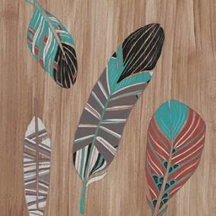 Driftwood Feathers II Digital Print by Vess, June Erica,Decorative