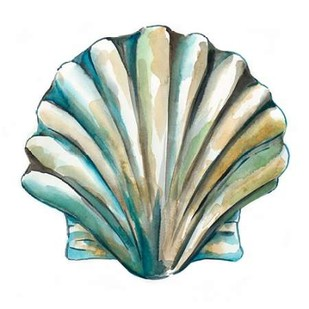 Aquarelle Shells VI Digital Print by Zarris, Chariklia,Decorative