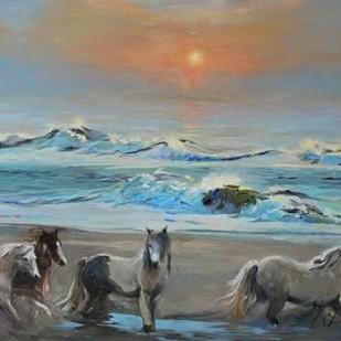 Dawn Passage Digital Print by Larivey, Chuck,Impressionism