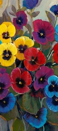 Pansy Panel II Digital Print by Otoole, Tim,Expressionism