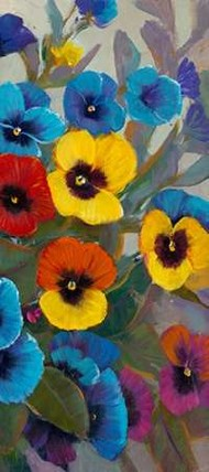 Pansy Panel III Digital Print by Otoole, Tim,Expressionism