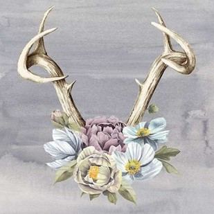 Antlers & Flowers I Digital Print by Popp, Grace,Impressionism