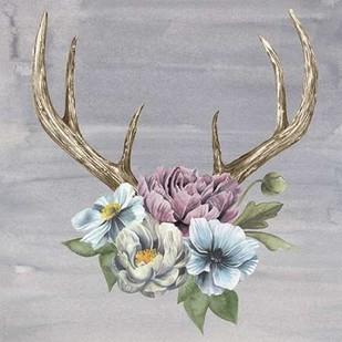 Antlers & Flowers II Digital Print by Popp, Grace,Impressionism