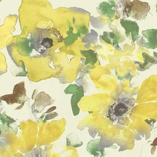 Yellow & Grey Blooms I Digital Print by Studio W,Impressionism