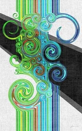 Twirl I Digital Print by Burghardt, James,Abstract