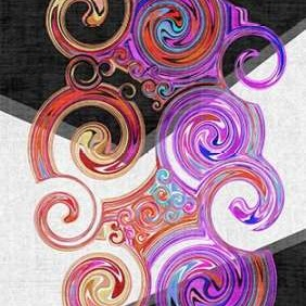 Twirl II Digital Print by Burghardt, James,Abstract