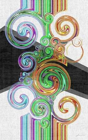 Twirl III Digital Print by Burghardt, James,Abstract