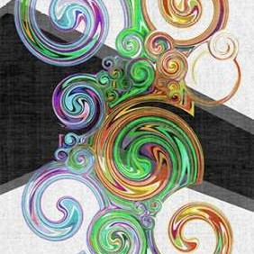 Twirl III Digital Print by Burghardt, James,Abstract
