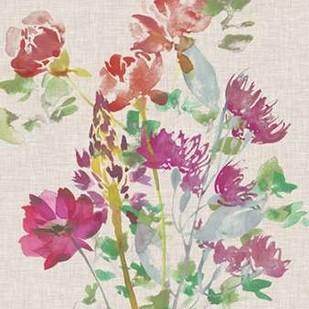 Linen Bouquet I Digital Print by Mosley, Kiana,Impressionism