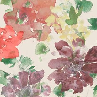 Fuchsia Inked Blooms I Digital Print by Studio W,Impressionism