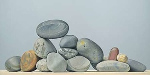 Rocks - Still Life Digital Print by Cholakian, Kevork,Impressionism