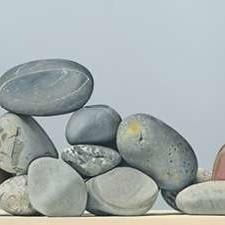 Rocks - Still Life Digital Print by Cholakian, Kevork,Impressionism