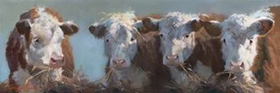 Little Bull & the Babes Digital Print by Hawley, Carolyne,Impressionism