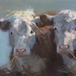Little Bull & the Babes Digital Print by Hawley, Carolyne,Impressionism