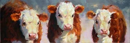 Winter Calves Digital Print by Hawley, Carolyne,Impressionism