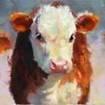 Winter Calves Digital Print by Hawley, Carolyne,Impressionism
