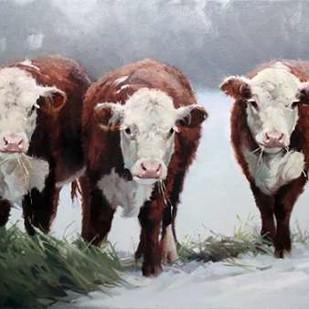 Winter Shadows Digital Print by Hawley, Carolyne,Impressionism