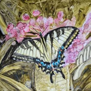 Butterfly in Nature II Digital Print by Lynnsy, B.,Impressionism
